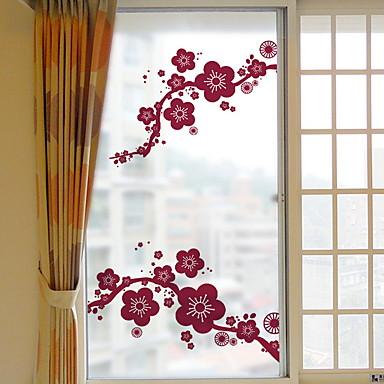 فيلم نافذة وملصقات زخرفة زهري / العادي وردة PVC ملصق النافذة