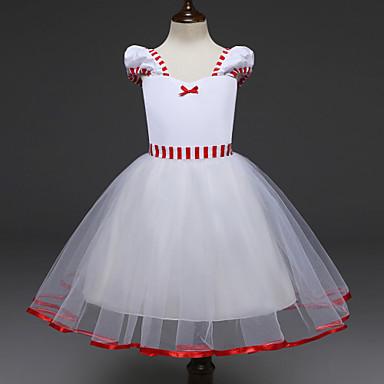 Kleider Für Weihnachten.23 99 Prinzessin Cosplay Kostüme Kinder Mädchen Kleider Weihnachten Halloween Karneval Fest Feiertage Tüll Baumwolle Weiß Karneval Kostüme
