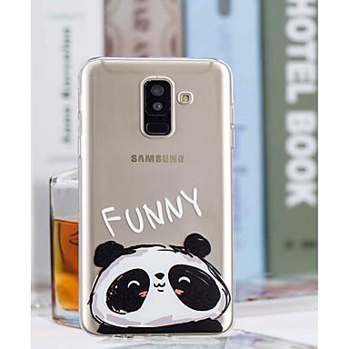 غطاء من أجل Samsung Galaxy A6 (2018) / A6+ (2018) / A3 (2017) شفاف / نموذج غطاء خلفي باندا ناعم TPU