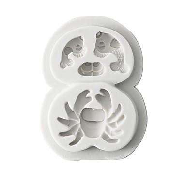 1PC السليكون المطاط سيليكون هلام السيليكون 3D اصنع بنفسك كعكة بسكويت الشوكولاتي حيوان قوالب الكيك أدوات خبز