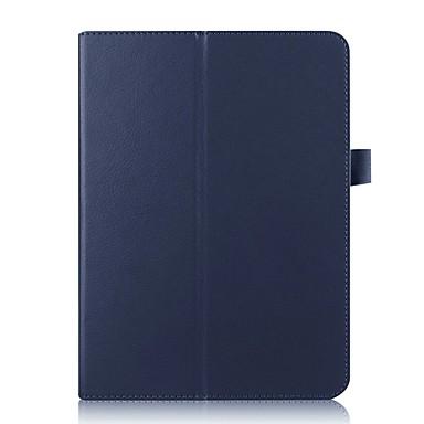 hoesje Voor Samsung Galaxy Tab S2 9.7 met standaard Volledig hoesje Effen Hard PU-nahka