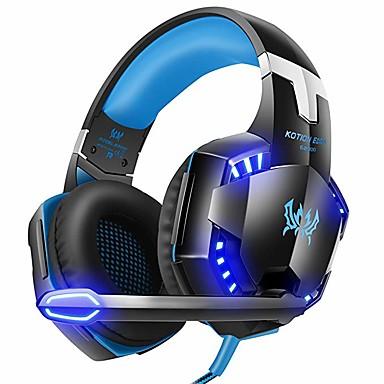 olcso Gaming fülhallgatók-kotion egyes g2000 7.1 térhatású sztereó játék fülhallgatók fejhallgató led lámpák és puha memória fülhallgatók működik xbox one, ps4, Nintendo kapcsoló, pc mac számítógépes játék