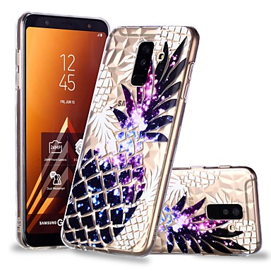 voordelige Galaxy A-serie hoesjes / covers-hoesje Voor Samsung Galaxy A6 (2018) / A6+ (2018) / A8 2018 Transparant / Patroon Achterkant Fruit Zacht TPU