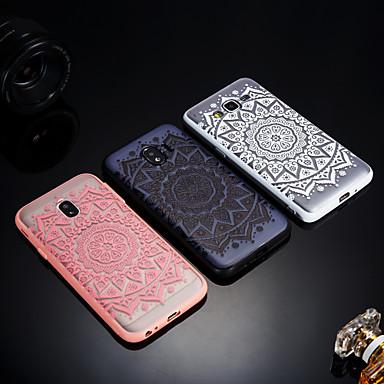 hoesje Voor Samsung Galaxy J8 / J7 V / J7 Prime Mat / Doorzichtig / Reliëfopdruk Achterkant Lace Printing Hard Acryl