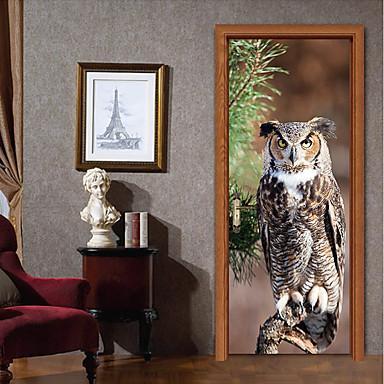 ملصقات الباب - لواصق تجريدي / حيوانات غرفة الجلوس / غرفة النوم