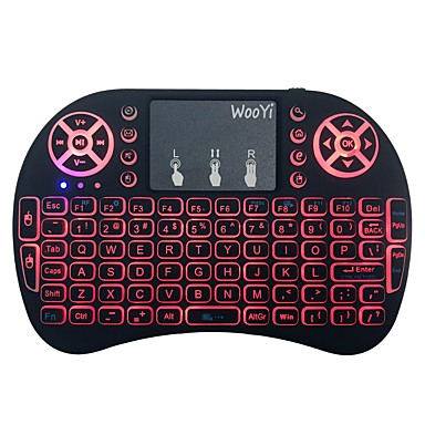 LITBest I8 2.4GHz اللاسلكية لوحة المفاتيح مكتب ميني مضيء موضوع لون الخلفية 92 pcs مفاتيح