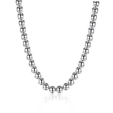 رجالي عقد ستايل خلاق موضة مطلي بالفضة فضي 51 cm قلادة مجوهرات 1PC من أجل هدية مناسب للبس اليومي