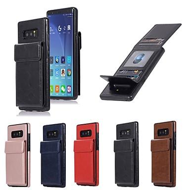 voordelige Galaxy Note-serie hoesjes / covers-hoesje Voor Samsung Galaxy Note 8 Portemonnee / Kaarthouder / met standaard Achterkant Effen Hard PU-nahka