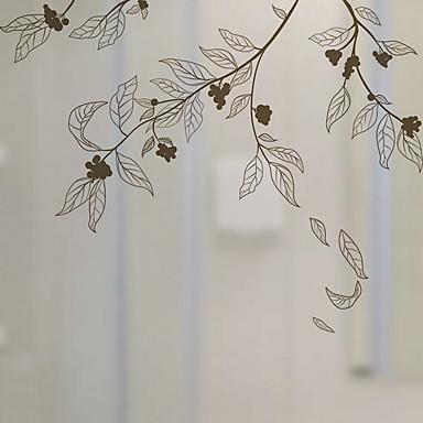فيلم نافذة وملصقات زخرفة العادي هندسي / وردة PVC شفاف