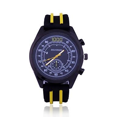 رجالي ساعة رياضية ساعة المعصم كوارتز سيليكون الأبيض / أزرق / أحمر تصميم جديد ساعة كاجوال مماثل كاجوال موضة - أصفر أحمر أزرق سنة واحدة عمر البطارية