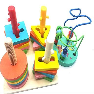 olcso Math játékok-Játékos számtan Iskola geometrikus minta Kreatív Fa Fa-műanyag kompozit 2 pcs Gyermek Alapvető Fiú Lány Játékok Ajándék