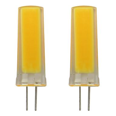 3w żarówka led g4 bi-pin silikonowy reflektor smd 0930 cob oświetlenie domu żyrandol ac 120v ciepły / zimny biały (2 szt)