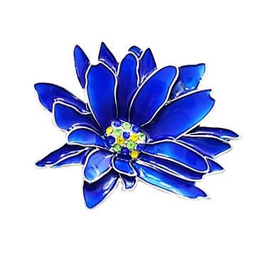 نسائي دبابيس ستايل وردة سيدات أنيق كلاسيكي بروش مجوهرات أزرق من أجل مناسب للبس اليومي