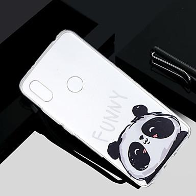 Недорогие Чехлы и кейсы для Xiaomi-Кейс для Назначение Xiaomi Redmi Note 5A / Xiaomi Redmi Note 4X / Xiaomi Redmi Note 4 Прозрачный / Полупрозрачный / С узором Кейс на заднюю панель Панда Мягкий ТПУ / Xiaomi Redmi 4a