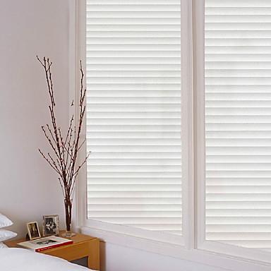 فيلم نافذة وملصقات زخرفة العادي مخطط PVC ملصق النافذة