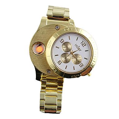 رجالي ساعة المعصم ياباني كوارتز ستانلس ستيل ذهبي الكرونوغراف إبداعي تصميم جديد مماثل سوار موضة - أبيض أسود سنتان عمر البطارية / طرد كبير