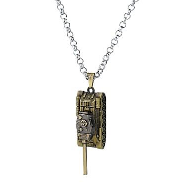 رجالي فينتاج كلاسيكي قلادة خمر عبارة تصميم فريد أنيمي كوول فضي برونز 62 cm قلادة مجوهرات 1PC من أجل مهرجان نادي