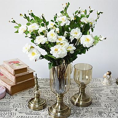 Yapay Çiçekler 1 şube Klasik Şık Avrupa Camellia Masaüstü Çiçeği