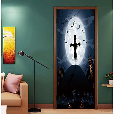ملصقات الباب - لواصق / عطلة ملصقات الحائط حيوانات / Halloween غرفة الجلوس / غرفة النوم