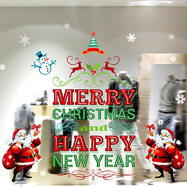 فيلم نافذة وملصقات زخرفة Ethnic Style / عيد الميلاد عطلة PVC ملصق النافذة