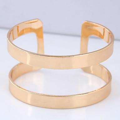 نسائي ستايل أساور اصفاد خلاق بسيط أوروبي موضة سوار مجوهرات ذهبي من أجل مناسب للبس اليومي نادي