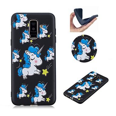 케이스 제품 Samsung Galaxy A6 (2018) / A6+ (2018) / Galaxy A7(2018) 패턴 뒷면 커버 유니콘 소프트 TPU