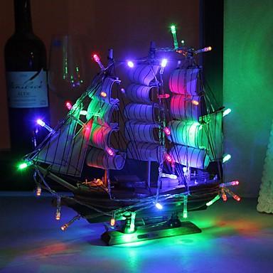 3M Fâșii de Iluminat 30 LED-uri Dip Led Multicolor Ce poate fi Tăiat / Decorativ / Adorabil Baterii AA alimentate 1 buc / IP44