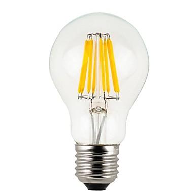 KWB 1PC 8 W مصابيحLED 800 lm E26 / E27 A60(A19) 8 الخرز LED COB ديكور أبيض دافئ 220-240 V / بنفايات