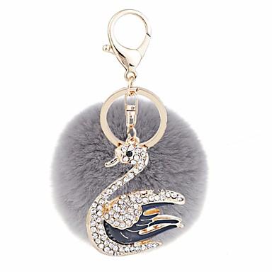 سلسلة المفاتيح بجعة كرة حلو موضة خواتم مجوهرات أسود / أرجواني / أزرق من أجل هدية مناسب للبس اليومي