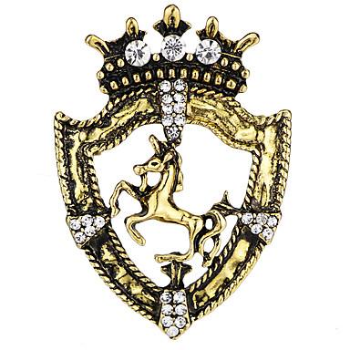 povoljno Broševi-Muškarci Kubični Zirconia Broševi Vintage Style Sa stilom Konj Kreativan Vintage Moda Drevni Rim Broš Jewelry Zlato Pink Za Party Dnevno