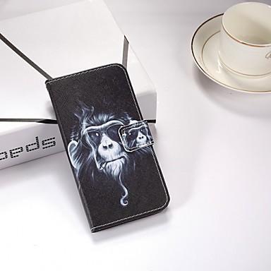 غطاء من أجل Huawei Huawei P smart / Huawei Enjoy 7S محفظة / مع حامل / قلب غطاء كامل للجسم حيوان قاسي جلد PU