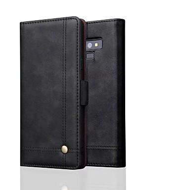 voordelige Galaxy Note-serie hoesjes / covers-hoesje Voor Samsung Galaxy Note 9 / Note 8 Portemonnee Volledig hoesje Effen Hard aitoa nahkaa