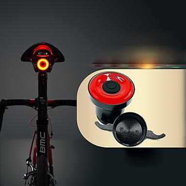 olcso Kerékpár világítás-LED Kerékpár világítás biztonsági világítás Bike Horn Light Hegyi biciklizés Kerékpár Kerékpározás Vízálló Intelligens indukció Láthatatlan Könnyű Li-on 50 lm USB Piros Kerékpározás