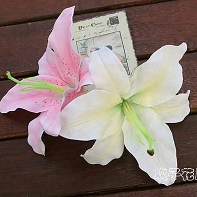 زهور اصطناعية 10 فرع كلاسيكي فردي أنيق النمط الرعوي الزنابق الفاوانيا أزهار الطاولة