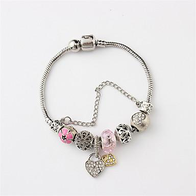 e0903cebe Women's Cuff Bracelet Bead Bracelet Stylish Beads Creative Heart Ladies Dangling  Sweet Resin Bracelet Jewelry White / Pink / Light Blue For Date Holiday ...