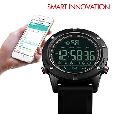 SKMEI رجالي ساعة رياضية ساعة رقمية رقمي سيليكون أسود 50 m مقاوم للماء بلوتوث ساعة التوقف رقمي ترف كاجوال - أسود / قضية
