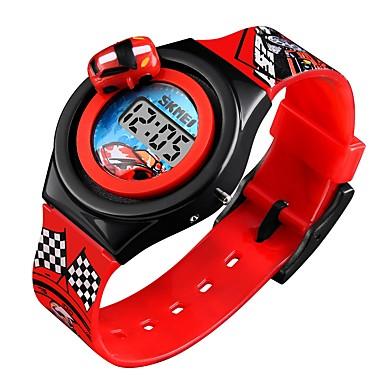 SKMEI نسائي الزوجين ساعة المعصم ساعة رقمية رقمي سيليكون أزرق / أحمر / رمادي رزنامه جميل كوول رقمي كرتون موضة - أحمر أزرق أزرق فاتح