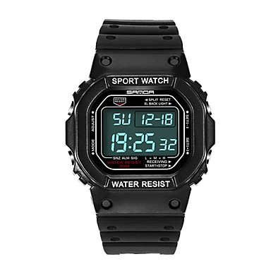 SANDA رجالي ساعة رياضية ساعة رقمية ياباني رقمي أسود 30 m مقاوم للماء رزنامه ساعة التوقف رقمي ترف موضة - أحمر أزرق ذهبي / قضية