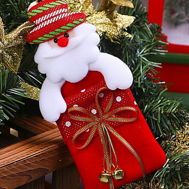 عيد الميلاد الحلي عطلة / كرتون نسيج القطن مربع حداثة زينة عيد الميلاد