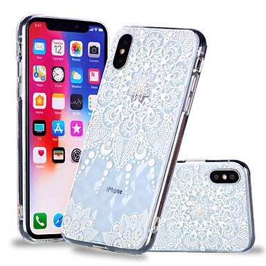 voordelige iPhone 6 Plus hoesjes-hoesje Voor Apple iPhone X / iPhone 8 Plus / iPhone 8 Patroon Achterkant Mandala / Bloem Zacht TPU