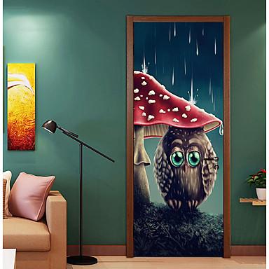 ملصقات الباب - لواصق حيوانات / حياة هادئة غرفة الجلوس / غرفة النوم