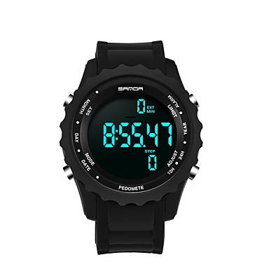 SANDA رجالي ساعة رياضية ساعة رقمية ياباني رقمي أسود 30 m مقاوم للماء رزنامه الكرونوغراف رقمي ترف موضة - أبيض أسود ذهبي / ساعة التوقف / قضية