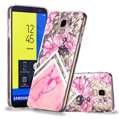 غطاء من أجل Samsung Galaxy J7 (2017) / J6 / J5 (2017) نموذج غطاء خلفي زهور / حجر كريم ناعم TPU
