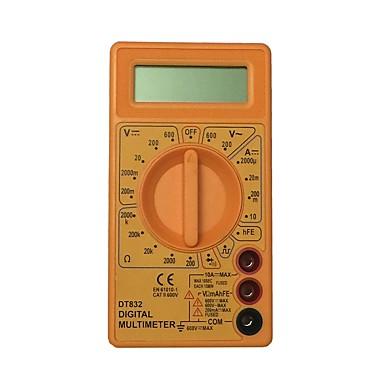 dt832 600v أصفر lcd يد رقميّ multimeter يستعمل لبيت وسيارة
