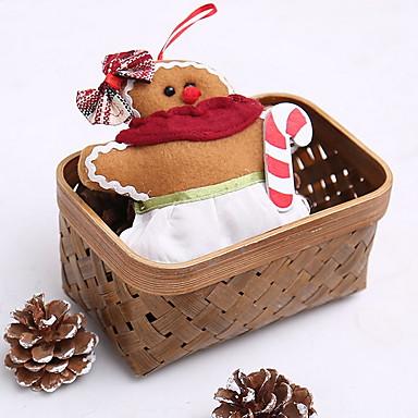 عيد الميلاد الحلي عطلة قماش مربع لعبة الكرتون زينة عيد الميلاد