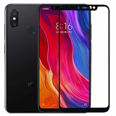 Недорогие Защитные плёнки для экранов Xiaomi-asling протектор экрана для xiaomi xiaomi mi 8 закаленное стекло 1 шт полный защитный экран для экрана 9 ч. твердость / 2.5d изогнутый край / взрывозащищенный
