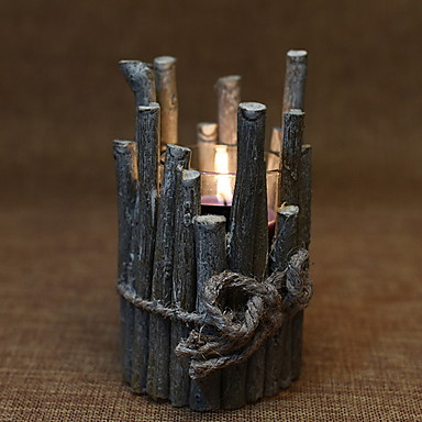 الطراز الأوروبي خشبي Candle Holders الشمعدانات 1PC, شمعة / حامل شمعة
