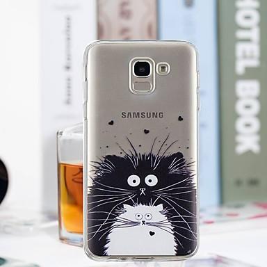 غطاء من أجل Samsung Galaxy J7 (2017) / J6 / J5 (2017) شفاف / نموذج غطاء خلفي قطة ناعم TPU