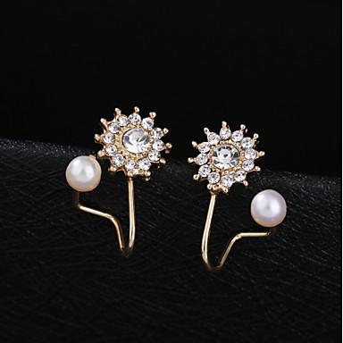 olcso Fülgyűrűk-Női Klipszes fülbevalók Fül Mandzsetta Klasszikus Romantikus Fülbevaló Ékszerek Ezüst / Aranyozott Kompatibilitás Napi Fesztivál 1 pár