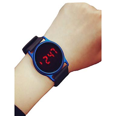 رخيصةأون ساعات النساء-رجالي نسائي ساعة رياضية ساعة المعصم ساعة رقمية رقمي سيليكون أسود / أزرق / روز 30 m الكرونوغراف LCD ساعة كاجوال رقمي كاجوال الحد الأدنى - أسود / أزرق أسود / وردة حمراء أسود / فضي سنتان عمر البطارية